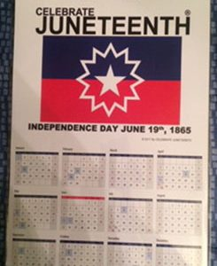 Celebrate Juneteenth Calendar