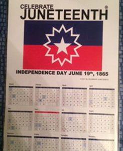 Celebrate Juneteenth Calendar